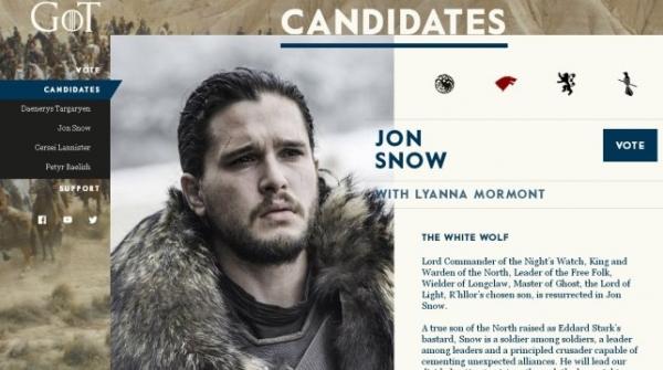 Создатели «Игры престолов» сняли пародию напредвыборную гонку вСША