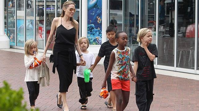 Анджелина Джоли добилась временной опеки над всеми своими детьми